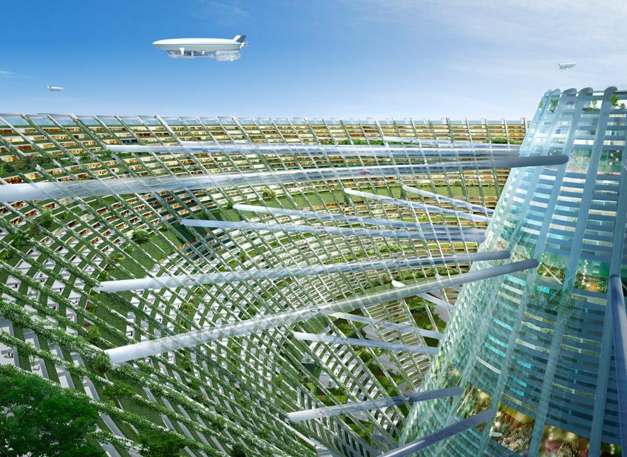 """グリーン&フロート技術による海上都市で""""地球環境""""時代に新たな豊かさ ..."""